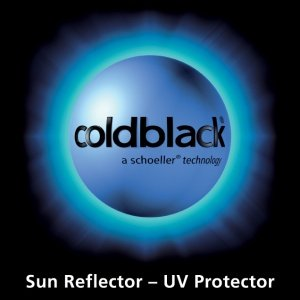 COLDBLACK - wykończenie tkaniny odbija promienie słoneczne, zabezpiecza użytkownika przed nadmiernym nagrzewaniem się odzieży