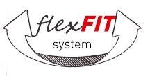 FlexFit System – elastyczne elementy ułatwiające dopasować wyrób do ruchów użytkownika. Umieszczone w newralgicznych miejscach gdzie standardowy krój ograniczałby swobodę ruchów.